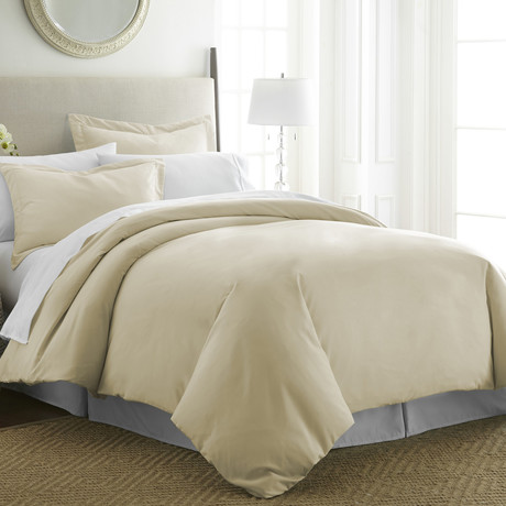 Hotel Collection // Premium Ultra Soft 3 Piece Duvet Cover Set // Cream (Twin/Twin XL)