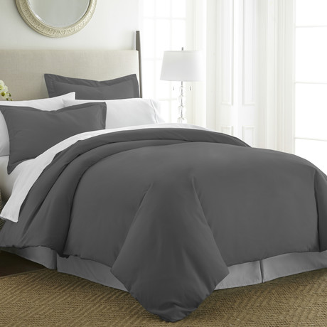 Hotel Collection // Premium Ultra Soft 3 Piece Duvet Cover Set // Gray (Twin/Twin XL)