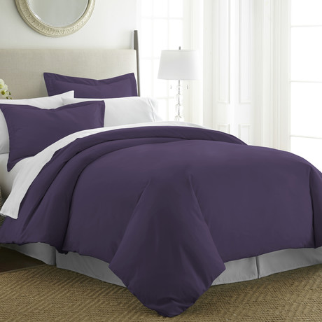 Hotel Collection // Premium Ultra Soft 3 Piece Duvet Cover Set // Purple (Twin/Twin XL)