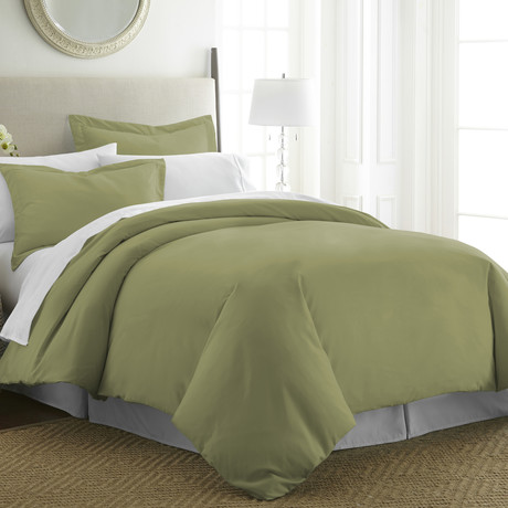 Hotel Collection // Premium Ultra Soft 3 Piece Duvet Cover Set // Sage (Twin/Twin XL)