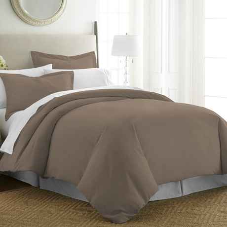 Hotel Collection // Premium Ultra Soft 3 Piece Duvet Cover Set // Taupe (Twin/Twin XL)