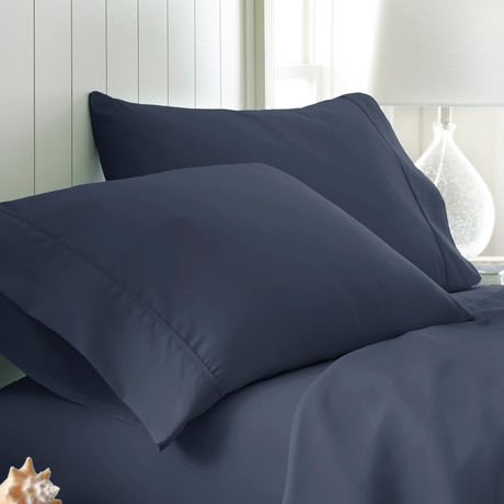 Hotel Collection // Premium Ultra Soft 2 Piece Pillowcase Set // Navy (King)