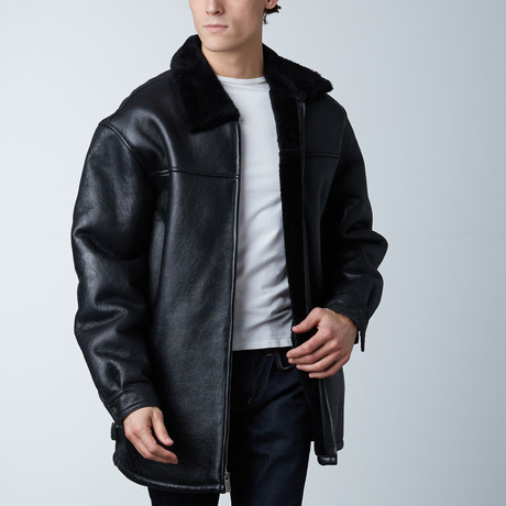 Sherpa Lined Coat // Black (S)