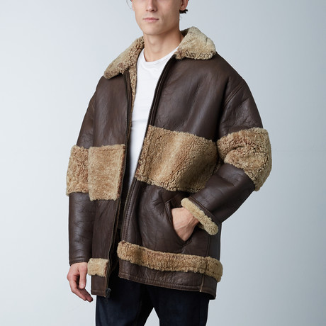 Sherpa Lined Coat // Brown (S)