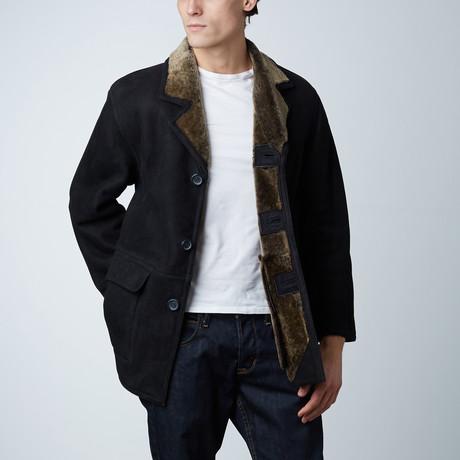 Mckinley Spanish Shearling Coat // Black (S)