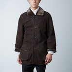 Dylan Spanish Shearling Coat // Brown (XS)