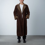 Snow Top Shearling Long Coat // Brown (M)