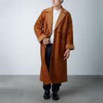 Snow Top Shearling Long Coat // Tobacco (XS)