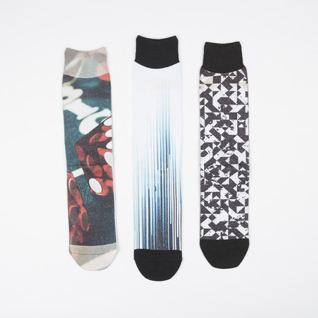 Socks // Pack of 3 // Abstract