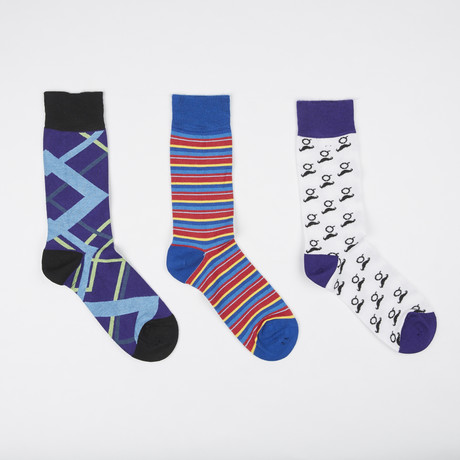 Socks // Pack of 3 // Mustache