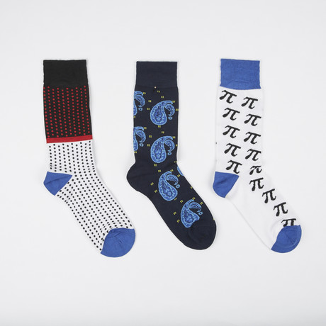 Socks // Pack of 3 // Paisley Pi