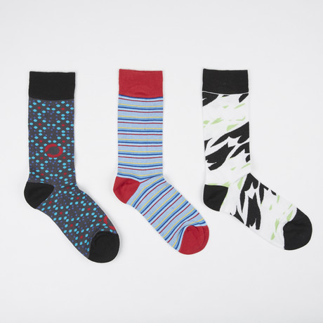 Socks // Pack of 3 // Dot + Line