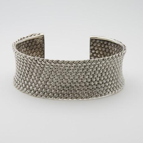 Basket Weave Cuff Bangle
