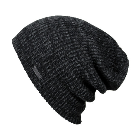 The Forte Slouchy Beanie // Black + Charcoal
