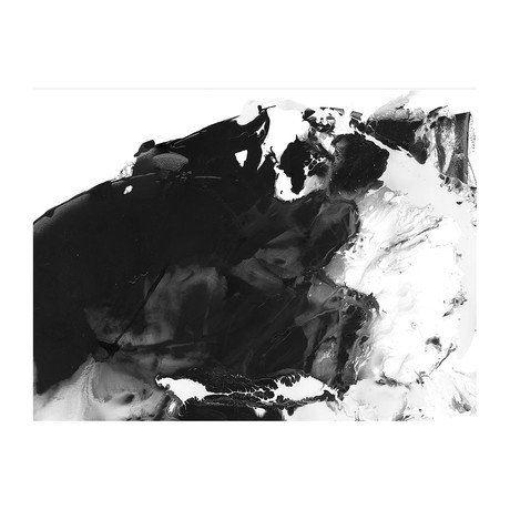 "Storm Below Black & White (24""W x 3.8""H x 30""D)"