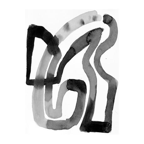 "Twills Black & White (24""W x 3.8""H x 30""D)"