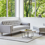 Spencer Sofa // Wood Base (Bayview Silver)