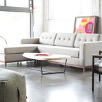 Jane Bi-Sectional // Wood Base (Bayview Silver)
