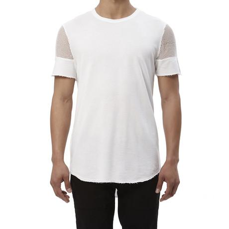 Mesh Sleeve Tee // White (S)