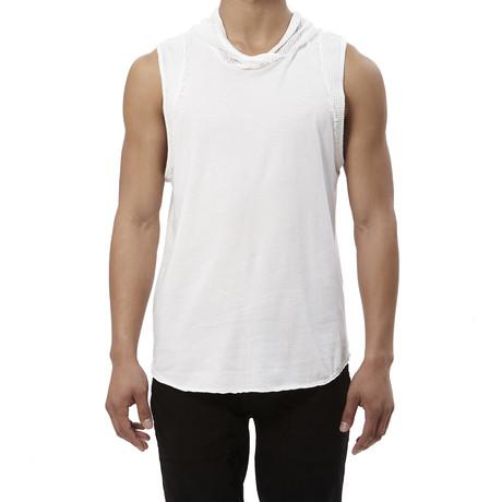 Mesh Hood Tank // White (S)