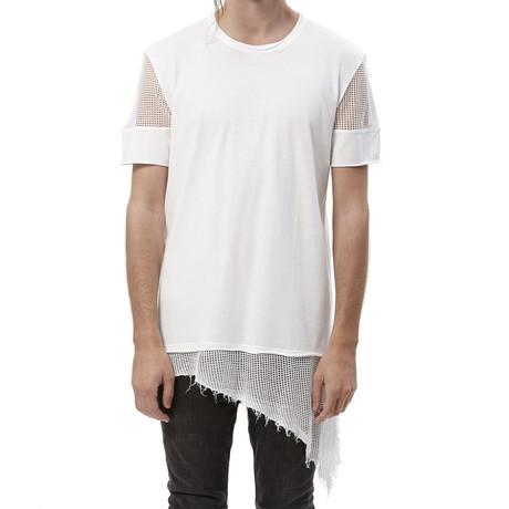 Mesh Sleeve + Hem Tee // White (S)