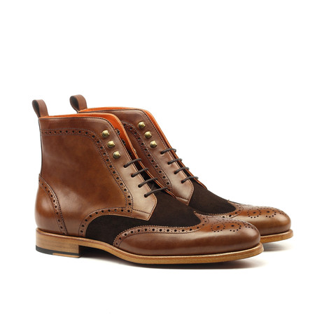 Military Painted Brogue // Brown (US: 6)