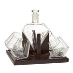 Diamond Decanter + Glasses (4 Glasses)