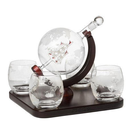 Globe Decanter + 4 Glasses