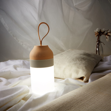 EARS2 // Portable Bluetooth Speaker + LED Lantern (Cream)