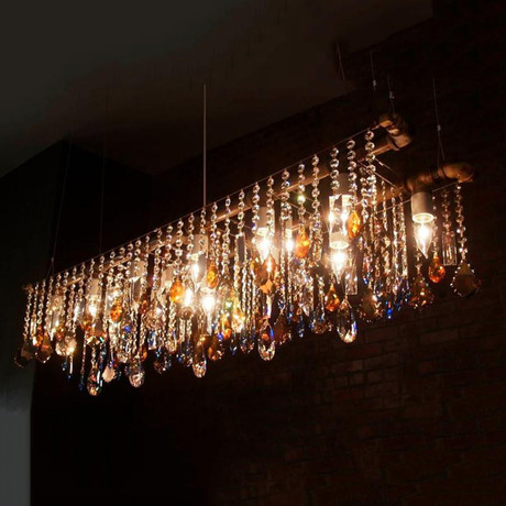 Industrial Collection Banqueting Chandelier (Black)