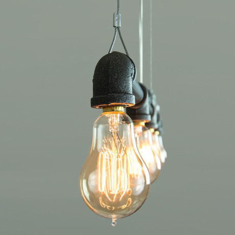 Raw Collection Suspension // 5 Bulb