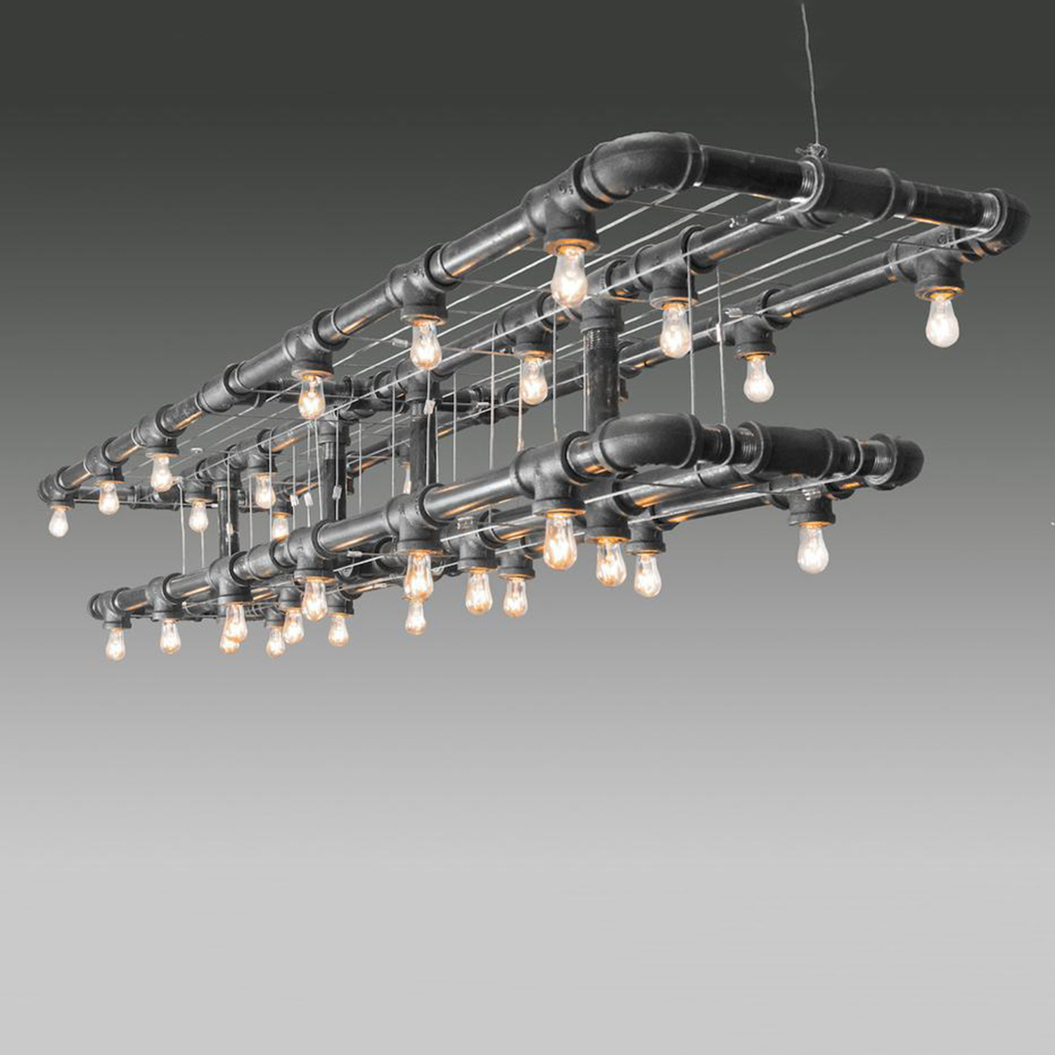 Raw collection double decker linear suspension michael for Suspension double