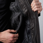 Classic 3/4 Belted Coat// Black (S)