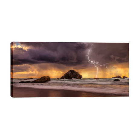 "Storm at Face Rock (26""W x 12""H x 1.5""D)"