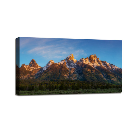 "Tetons First Light (24""W x 12""H x 1.5""D)"
