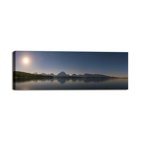 """Jackson Lake Moon (36""""W x 12""""H x 1.25""""D)"""