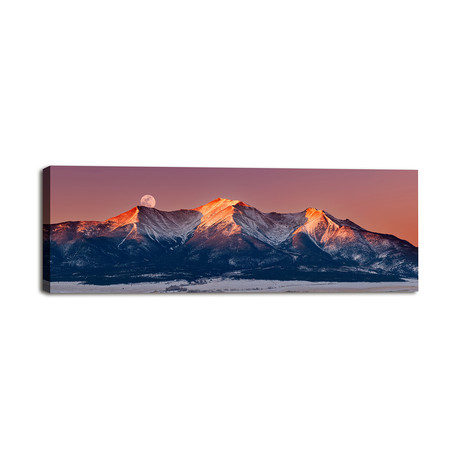 "Mount Princeton Mooned at Sunrise (36""W x 12""H x 1.25""D)"