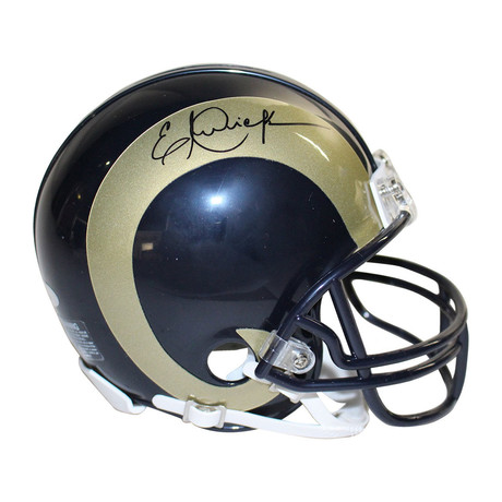 Eric Dickerson LA Rams Signed Mini Helmet