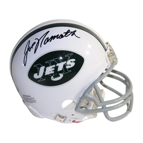 Joe Namath Signed NY Jets Throwback Mini Helmet