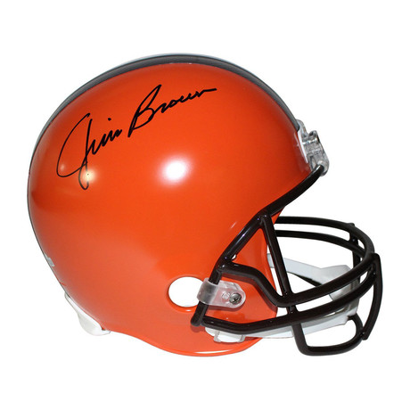 Jim Brown Signed Cleveland Browns Replica Helmet