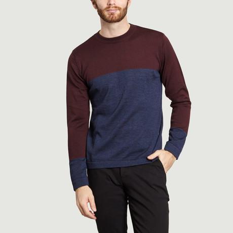 High Collar Knit Sweater // Velvet Blue (S)