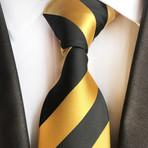 Handmade Tie // Black + Yellow Stripe