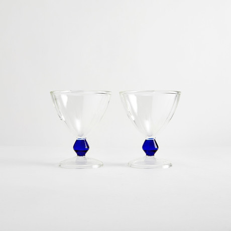 Iced Dessert Glassware Giulio // Set of 2 (Blue Ball)