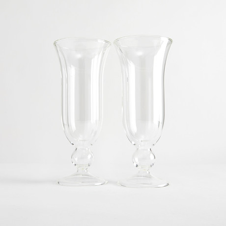 Enrico Iced Dessert Glassware // Set of 2 (Clear Base)