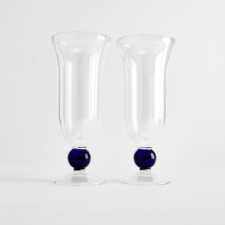 Enrico Iced Dessert Glassware // Set of 2