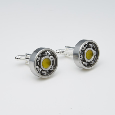 Spinning Cufflinks (Yellow)