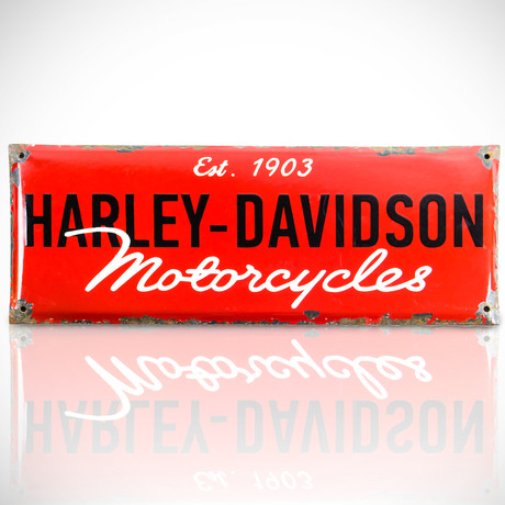 Harley-Davidson // Original Vintage Dealership Sign