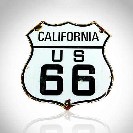 Route 66 // Original Vintage Road Sign