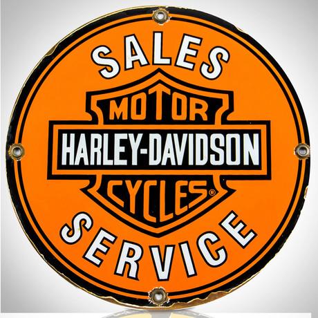 Harley-Davidson // Sales Service Original Vintage Dealership Sign