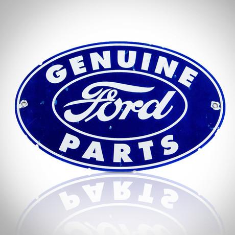 Ford-Genuine Parts // Original Vintage Dealership Sign